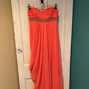 Coral BCBGMAXAZRIA Floor length gown